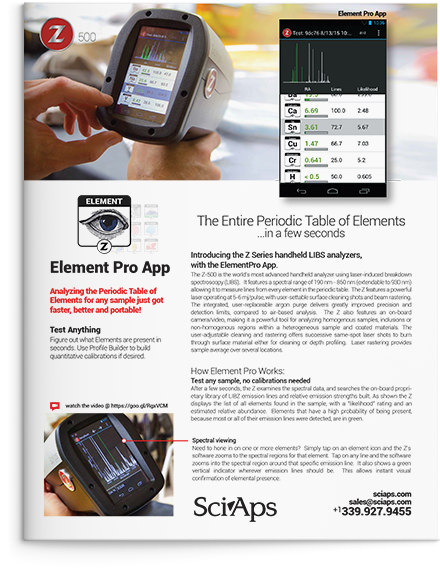 Element Pro App Brochure Cover