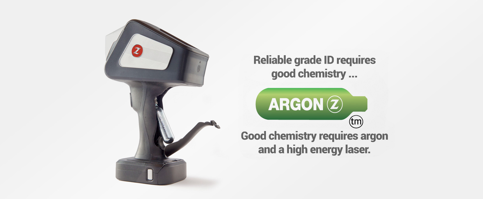 Good Chemistry requires argon and a high energy laser