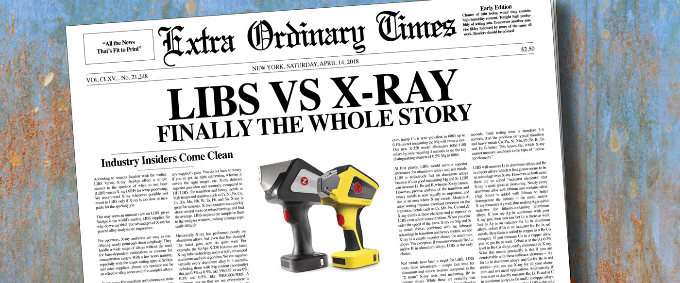 LIBS vs. X-Ray - The Whole Story