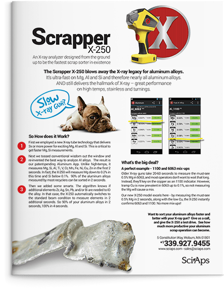The SciAps Scrapper X-250 and Aluminum App