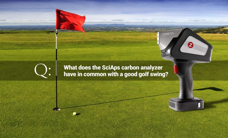 What does the SciAps carbon analyzer have in common with a good golf swing?