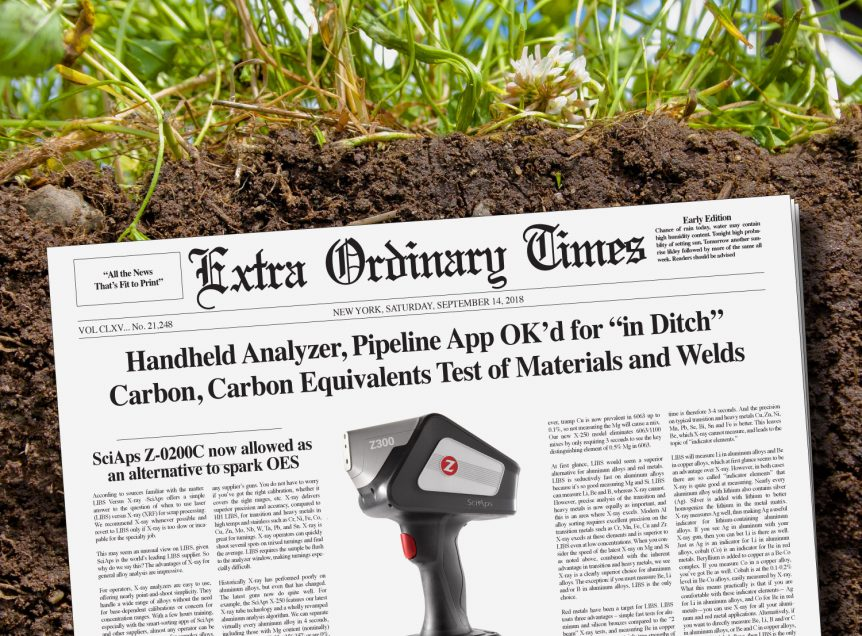"""Handheld Analyzer, Pipeline App OK'd for """"In Ditch"""" Carbon, Carbon Equivalents Tests of Materials and Welds"""