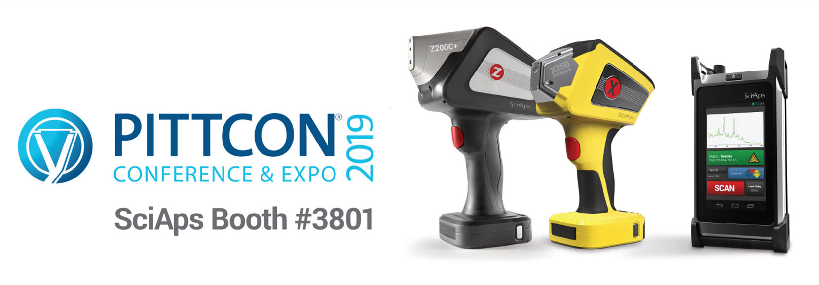 SciAps LIBS, XRF & Raman - booth 3801 PITTCON 2019