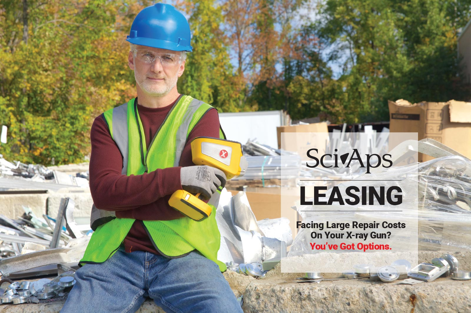 SciAps Leasing - Facing large repair costs on your x-ray gun? You've got options.