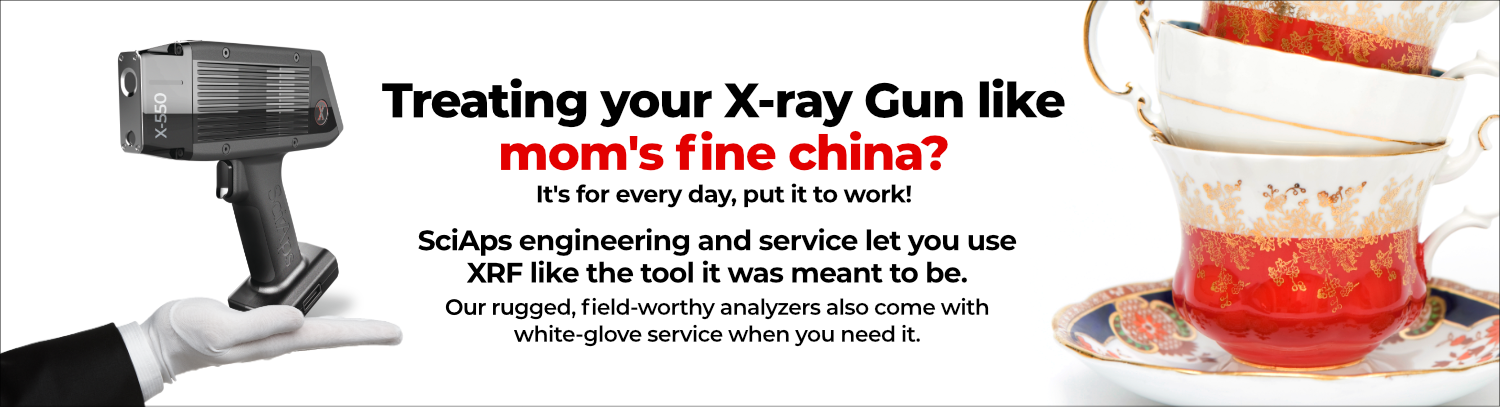 SciAps white glove service. Stop treating your X-ray gun like your moms fine china