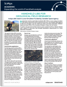 Handheld LIBS for Geological Field Research
