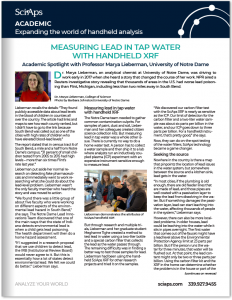 Measuring Lead in Tap Water with Handheld XRF