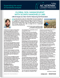 Global Soil Management with SciAps Handheld LIBS